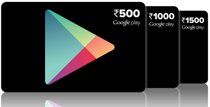 """Google Play Gift cards in India"""
