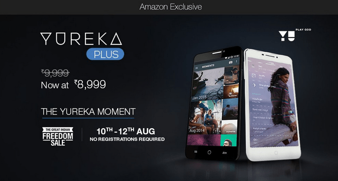 """Yu Yureka Plus open sale August 10-12"""
