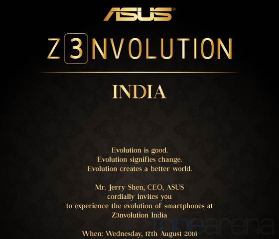 """Asus Zenfone 3 series India launch invite"""