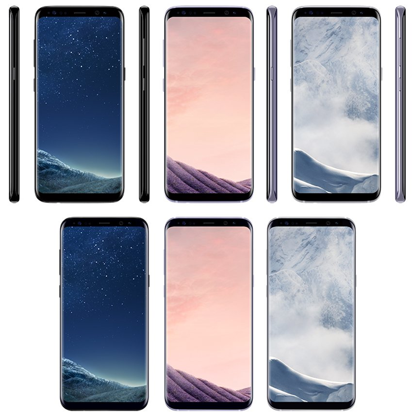 """Samsung Galaxy S8 and S8 Plus colors"""