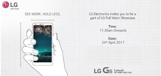 """LG G6 India launch invite"""