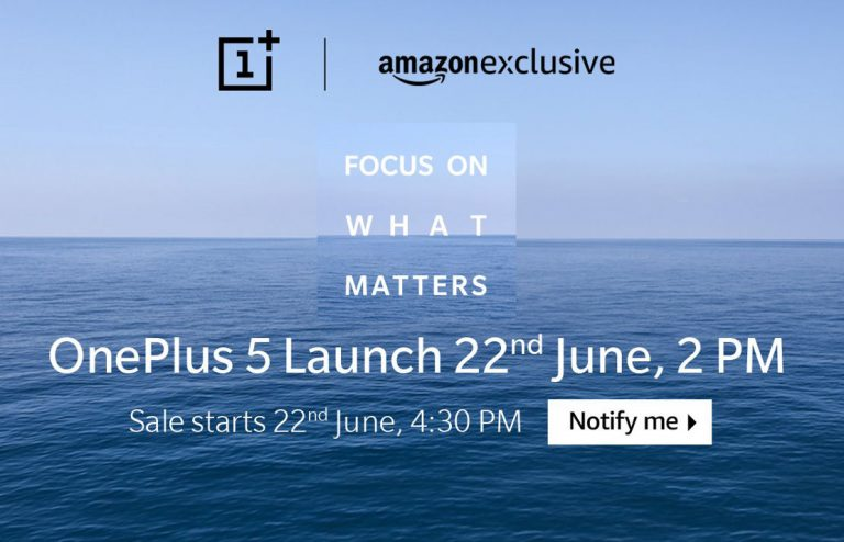 """OnePlus 5 Amazon India exclusive"""